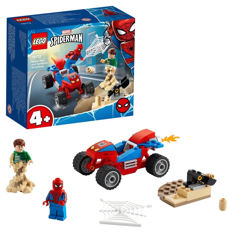 Конструктор LEGO DC Super Heroes Бой Человека-паука с Песочным человеком 76172