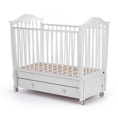 Кровать Nuovita Sorriso Swing с поперечным маятником Bianco/Белый