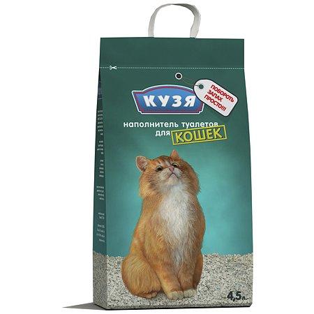 Наполнитель для кошек Кузя впитывающий 4.5 л