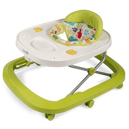 Ходунки AMARO BABY Walking Baby с электронной игровой панелью Зеленый