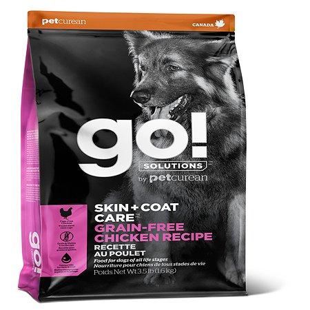 Корм для собак GO беззерновой с цельной курицей 11.3кг
