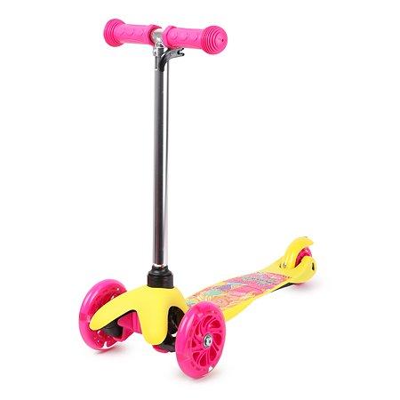 Самокат Kreiss Barbie 3-колесный HF-TK002A-B