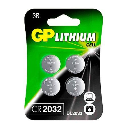 Батарейки GP 4шт CR2032-7CRU4