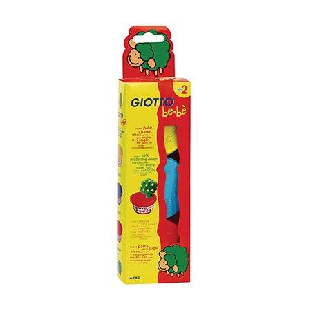 Мягкая масса для лепки Fila Giotto Be-Be 3 цвета (желтый, голубой, красный)