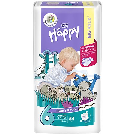 Подгузники Bella baby Happy Junior Extra 6 16+кг 54шт