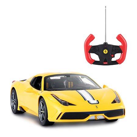 Машинка на радиоуправлении Rastar Ferrari 458 1:14 Желтая