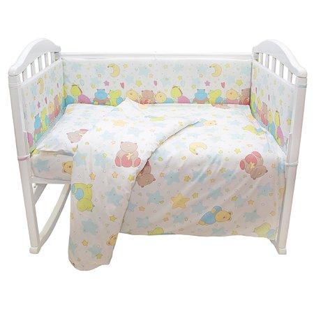 Комплект в кроватку Baby Nice Голубой в ассортименте  6 пр.