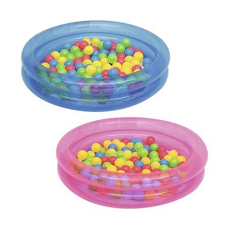 Круглый бассейн Bestway 91х20см (73 л) 50 шариков