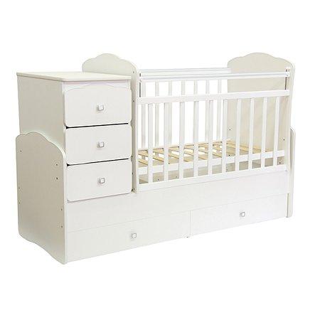 Кровать детская Фея 2100 М (белый)