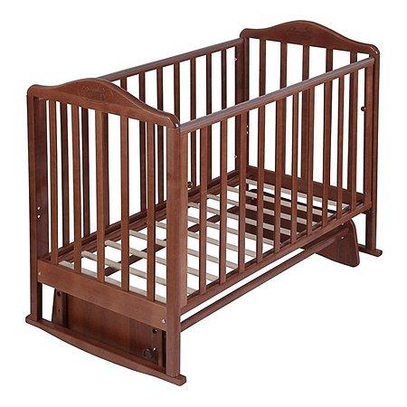 Кровать Наша Мама Джулия с попер.маятником цв.орех
