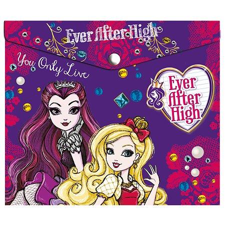 Папка-конверт Barbie Ever After High пластиковая с кнопкой
