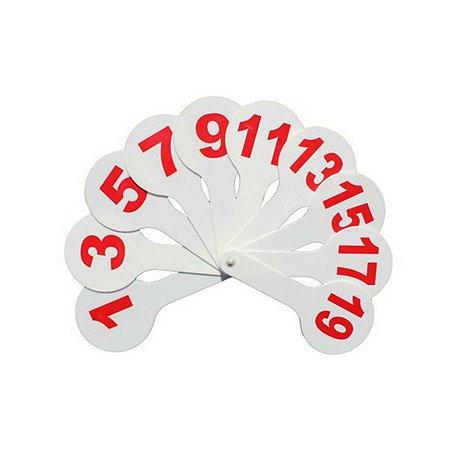 Касса-веер СТАММ цифры 1-20 прямой и обр.счет