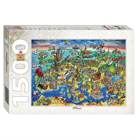 Пазл Step Puzzle Достопримечательности Европы 1500элементов 83059
