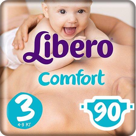 Подгузники Libero Comfort 3 4-9кг 90шт