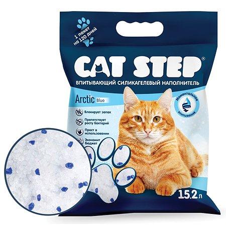 Наполнитель Cat Step Arctic Blue впитывающий силикагелевый 15.2 л