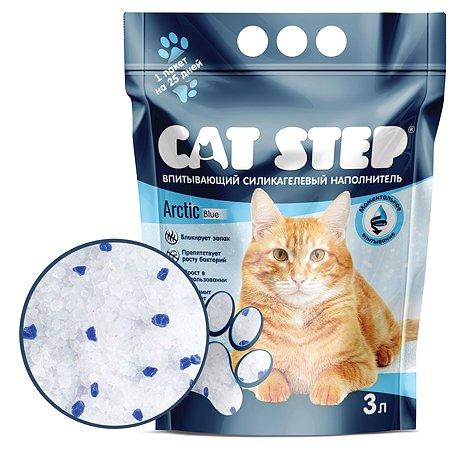 Наполнитель Cat Step Arctic Blue впитывающий силикагелевый 3л