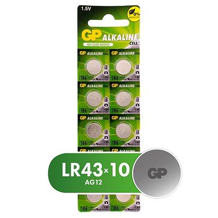 Батарейки GP LR43 (AG12) 10шт 186FRA-2C10