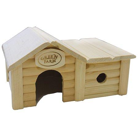 Дом для грызунов Green Farm мелких с пристройкой И-239