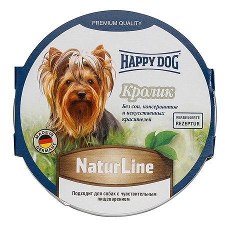 Корм для собак Happy Dog Natur Line паштет кролик консервированный 85г