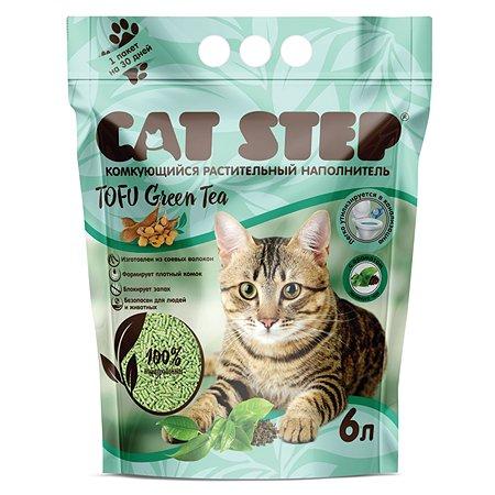 Наполнитель для кошек Cat Step Tofu Green Tea растительный комкующийся 6л