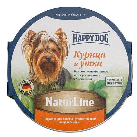 Корм для собак Happy Dog Natur Line паштет курица-утка консервированный 85г