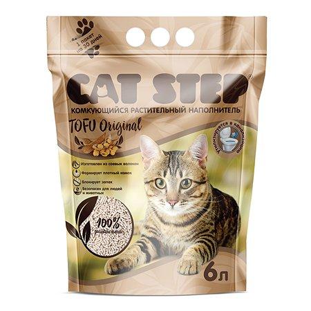 Наполнитель для кошек Cat Step Tofu Original растительный комкующийся 6 л