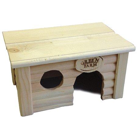 Дом для грызунов Green Farm мелких с плоской крышей И-241