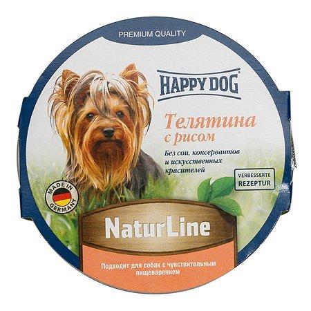 Корм для собак Happy Dog Natur Line паштет телятина-рис консервированный 85г