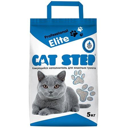 Наполнитель для кошек Cat Step Professional Elite комкующийся 5 кг