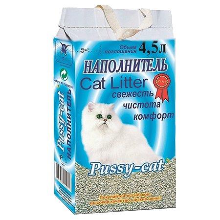 Наполнитель для кошек Pussy Cat впитывающий 4.5 л