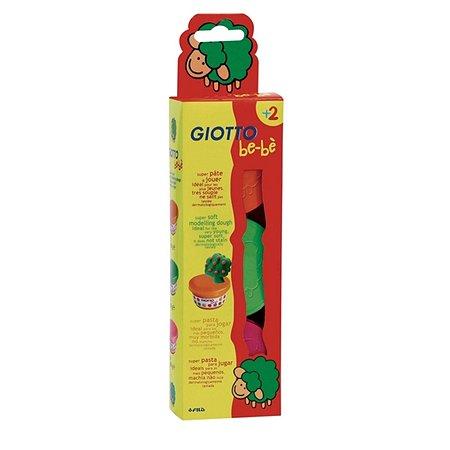 Мягкая масса для лепки Fila Giotto Be-Be 3 цвета (красный, зеленый, розовый)