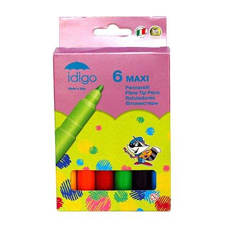 Фломастеры Idigo MAXI 6 цветов