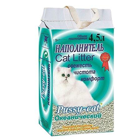 Наполнитель для кошек Pussy Cat Океанический впитывающий 4.5 л