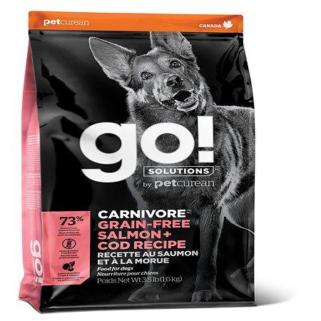 Корм для собак GO беззерновой c лососем и треской 10кг