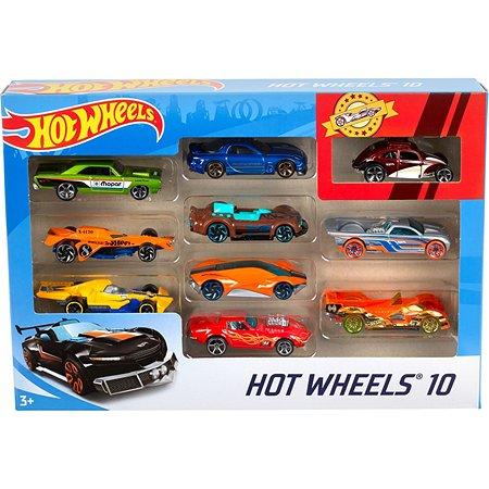 Подарочный набор Hot Wheels Базовые машинки (10 шт.) в ассортименте