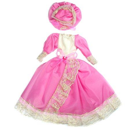 Одежда для кукол Модница Бальное платье из шелка со шляпкой для куклы 29 см в ассортименте