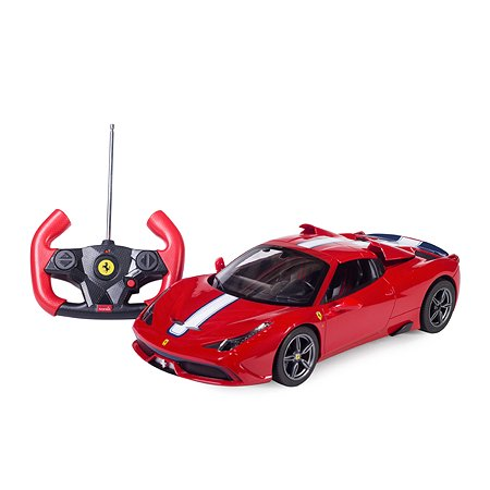 Машинка на радиоуправлении Rastar Ferrari 458 USB 1:14 Красная