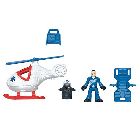 Набор фигурок IMAGINEXT City Helicopter & Medic (X7614)