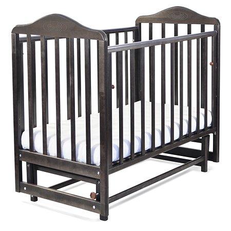 Кровать Наша Мама Джулия с попер.маятником цв.венге