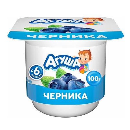 Творог детский фруктовый Агуша черника 3.9% 100 г с 6 месяцев