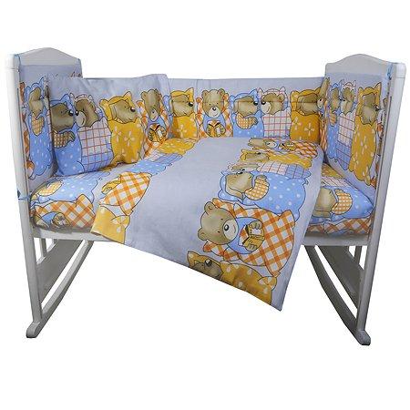 Комплект постельного белья Эдельвейс Спокойной ночи 4предмета Голубой 10414