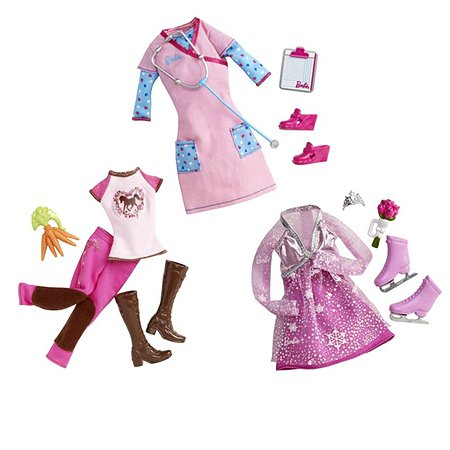 Набор модных нарядов по профессиям Barbie Barbie Серия Кем быть? в ассортименте