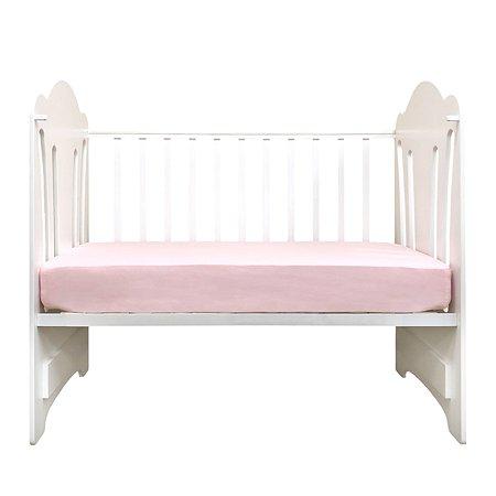 Простыня MIRAROSSI на резинке Розовая
