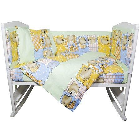 Комплект постельного белья Эдельвейс Спокойной ночи 4предмета Зеленый 10414