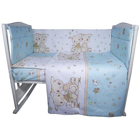Комплект постельного белья Эдельвейс Друзья 4предмета Бирюзовый 10409