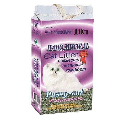 Наполнитель для кошек Pussy Cat комкующийся 10 л