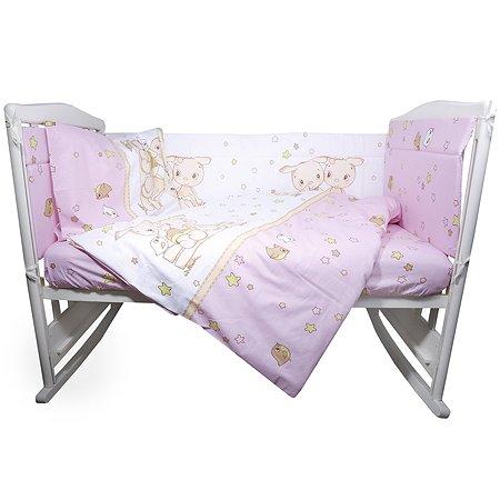 Комплект постельного белья Эдельвейс Друзья 4предмета Розовый 10409