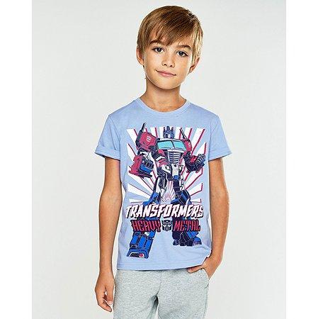 Футболка Transformers голубая