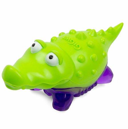Игрушка дя кошек GiGwi Крокодильчик с пищалкой 75454