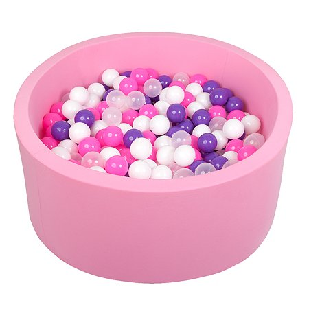 Бассейн Hotenok сухой Фиолетовые пузыри высота 40см 200 шариков sbh013